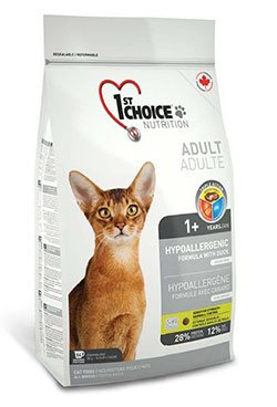 1st Choice  Cat Adult Hypoallergenic - Duck Formula - No grain!