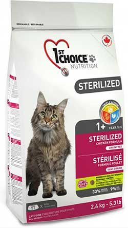 1st Choice Cats Sterilized - No Grain! <font color=red>New!</font>