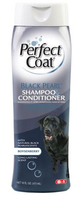 """8 in 1\""   Perfect Coat Black Pearl Shampoo and Conditioner for Dogs - 473мл"
