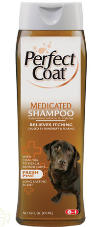 """8 in 1\""  Perfect Coat Medicated Shampoo for Dogs - 473 мл"