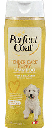 """8 in 1\""   Perfect Coat Tender Care Puppy Shampoo - 473мл"