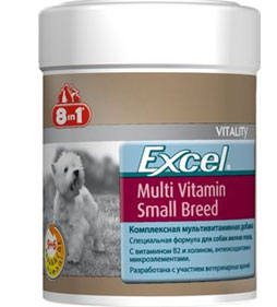 """8 in 1\""  Excel Daily Multi-Vitamin Adult Dog Small Breed  -  70 таб"