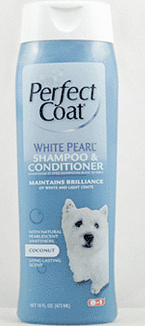 """8 in 1\""  Perfect Coat White Pearl Shampoo and Conditioner for Dogs - 473 мл"