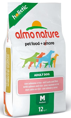 Almo Nature Holistic Adult Dog  Medium – Salmon &Rice (M)