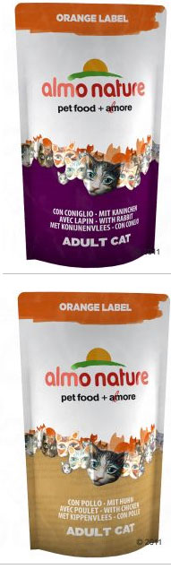 Almo Nature CAT  Orange Label: Dry with Rabbit, Chicken, Sardines, Turkey – 750 г