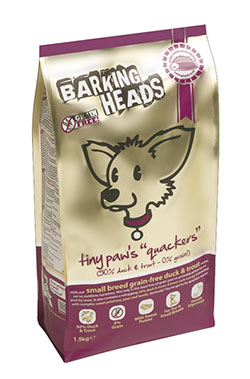 Barking Heads - Grain-Free Tiny Paws' Quackers (small breed duck&trout)