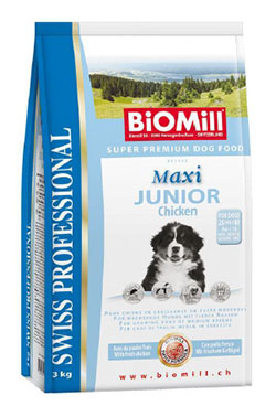 BiOMill Swiss Professional MAXI JUNIOR (Chicken)