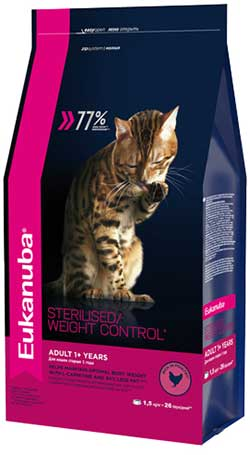 Eukanuba Adult Cats - Sterilized / Weight Control