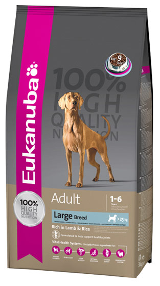 Eukanuba Dog Adult Large Breed rich in Lamb & Rice