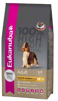 Eukanuba Dog Adult Small & Medium Breeds rich in Lamb & Rice