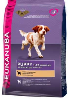 Eukanuba Puppy & Junior rich in Lamb & Rice
