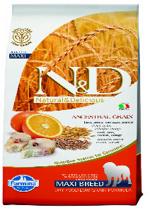 Farmina N&D Low Grain Codfish & Orange Adult Dog MAXI