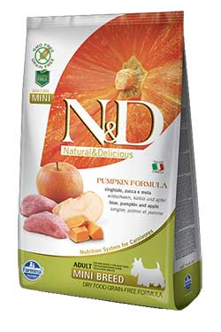 Farmina N&D Boar аnd Apple ADULT MINI (Grain Free) – Pumpkin formula