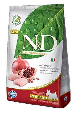 Farmina N&D Chicken and Pomegranate ADULT MINI (Grain Free)