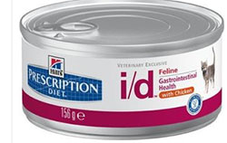 Hill`s  Prescription Diet™ Feline i/d Gastrointestinal Health  with Chicken. Набор: 5 банок х 156 г