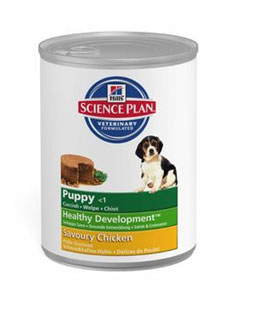 Hill's  Science Plan™ Puppy Medium Savoury Chicken (консервы) - набор 5 банок х 370 г