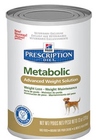 Hill\'s Prescription Diet™ Metabolic Canine -  Advanced Weight Solution, консервы для собак.  Набор 5 банок х 370 г
