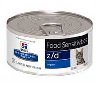 Hill`s  Prescription Diet™ z/d™ Feline ood Sensitivities. Набор: 5 банок х 156 г