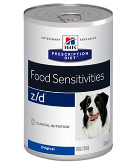 Hill's  Prescription Diet™ Canine Z/D™ Food Sensitivities (консервы) - набор 5 банок х 370 г