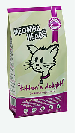 Meowing Heads - Kitten's Delight  (for kittens & young cats - Chicken)